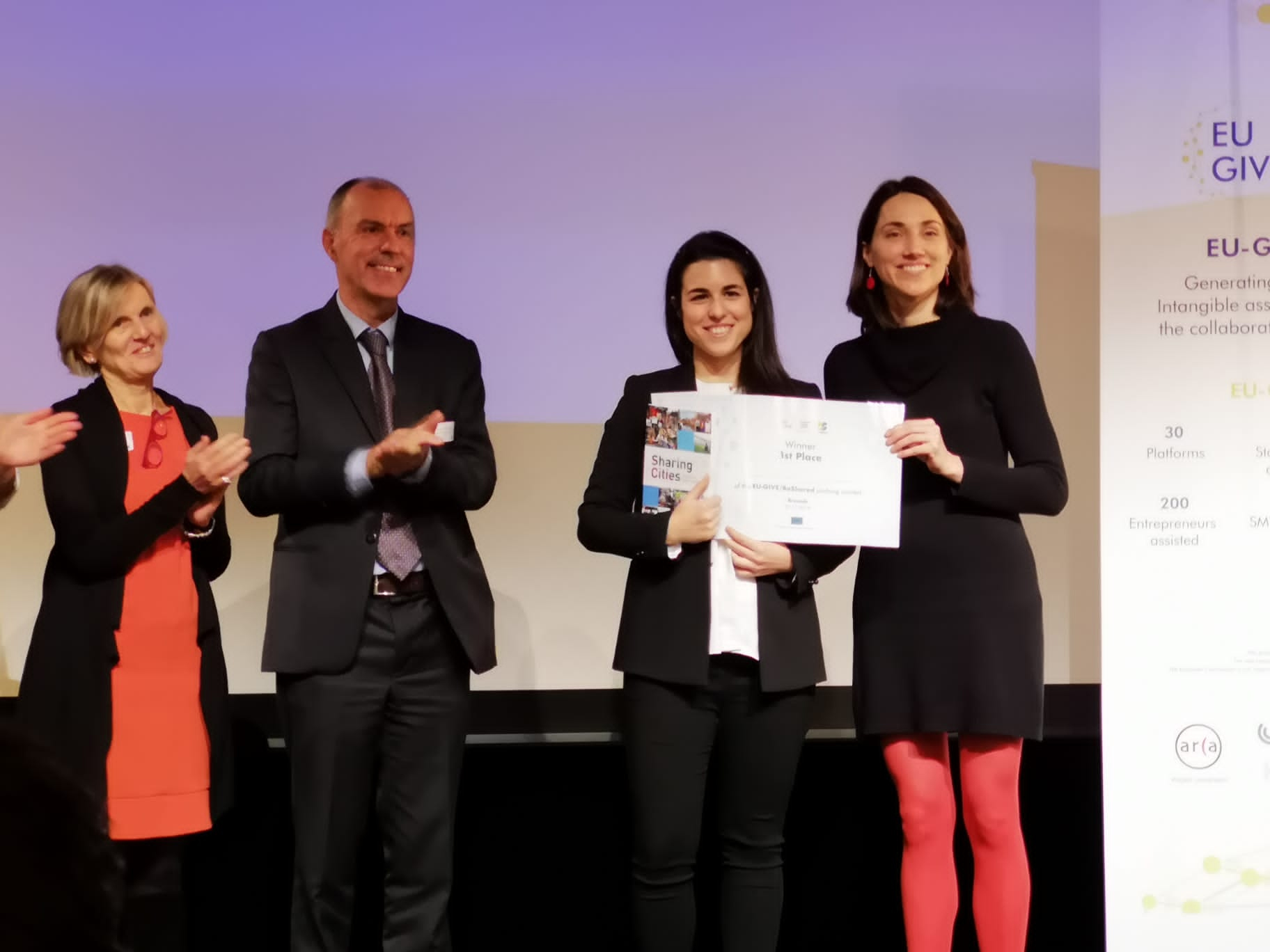 Pensumo awarded by the European Commission's EU-GIVE programme on Collaborative Economy